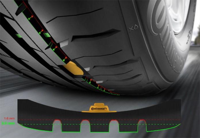 Continental поставя сензори в гумите