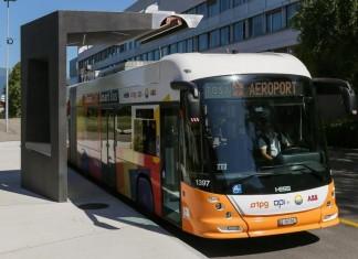 Електрически автобус на TOSA