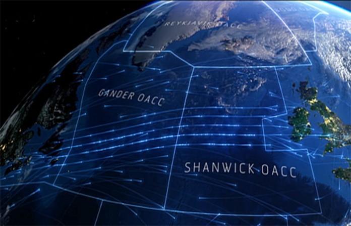 Въздушен трафик над Атлантически океан