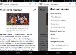 Wikipedia Beta приложение