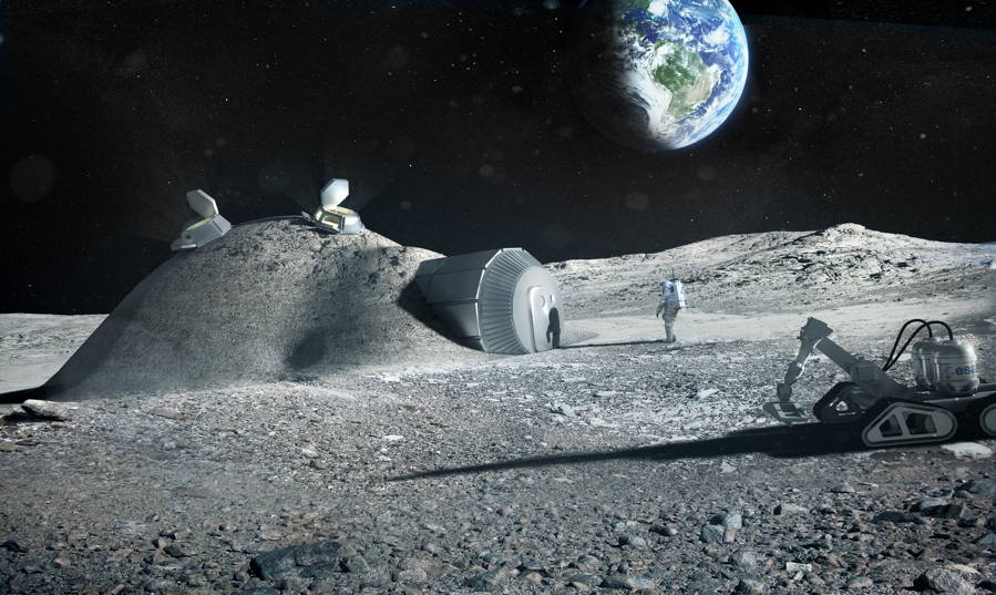 Лунна база - ESA