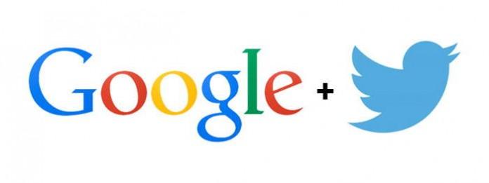 Лого google и twitter
